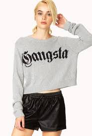 forever 21 gangsta sweater in black lyst