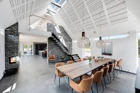 inspiring contemporary bright barn style house located in blåvand