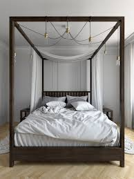 Santiago Bed Frame Santiago Wenge Wooden Bed Frame 5ft Kingsize In Wood Ideas 15