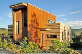 Beautiful Brown Color Nuance Modern Design Of The Insulate Conex Home Design With Orange Nuance