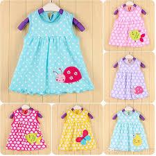 ladybug polka dot bebe dresses 0 2years baby dress