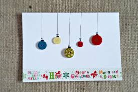 handmade christmas cards with buttons christmas lights decoration