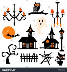 haunted house theme vector clip art stock vector 219078058