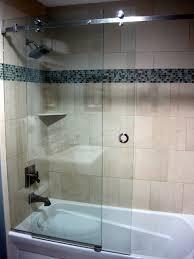 Bath Shower Doors Glass Frameless Serenity Frameless Sliding Shower Door Contemporary Bathroom