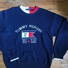 vintage hilfiger sweaters vintage 90 s hilfiger sweater s fashion clothes on