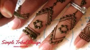 simple tribal mehndi henna design