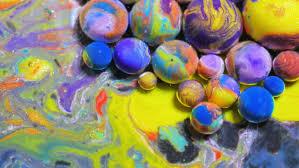 vibrant wallpaper splashing bubble bursting colorful bubbles 4k dissolving in water