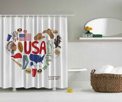 patriotic usa flag shower curtain western cowboy native american