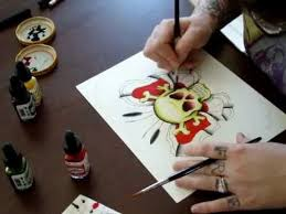 11 best tattoo instructional watercolor flash art videos images on