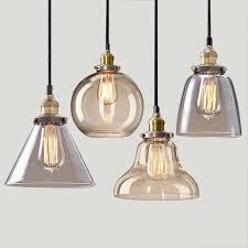 Single Pendant Lights Light Bulb Pendant Light Copper Glass Restaurant Pendant Light