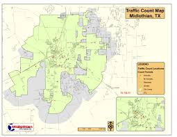 Dfw County Map Traffic Count Program Midlothian Tx Official Website