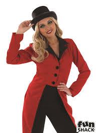 circus ringmaster jacket ladies lion tamer tailcoat fancy dress