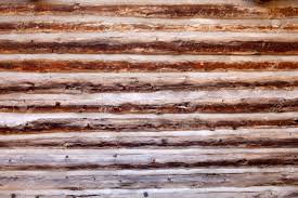 log cabin wood wall background or backdrop stock photo