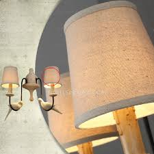 Craftsman Sconce Light Fabric Shade Wall Lights For Country Style Craftsman Wall