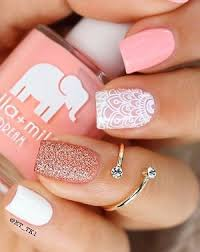 White Pink Nail 6 Pink Nail Designs You Definitely Need To Try