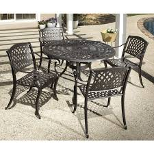 cast aluminum dining table westbury cast aluminum dining set with round dining table and 4