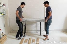 Standing Bar Table Homemade Modern Ep40 Concrete Iron Side Table