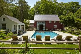house and barn connecticut barn and pool house farmhouse pool new york by