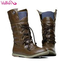 womens size 12 mid calf boots aliexpress com buy vallkin size 11 12 autumn