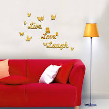 online get cheap 3d butterfly wall art diy aliexpress com wall stickers decal 3d butterfly mirror wall sticker diy wall art stickers home decors ceiling mirror