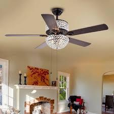 5 light ceiling fan warehouse of tiffany 52 5 blade laure crystal 6 light ceiling fan