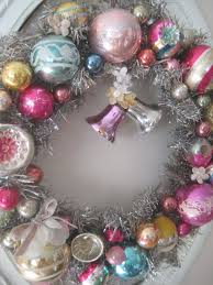 vintage ornament wreath pretty petals