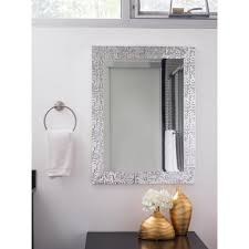 cozy beveled wall mirror tile allen roth white beveled wall ideas