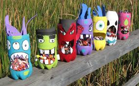 halloween decorations made with recycled materials