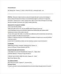 Occupational Therapy Resume Template Certified Occupational Therapist Resume Resume Example 7 Easy