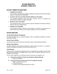 basic meeting agenda template professional templates