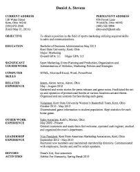 sport marketing resume sample http resumesdesign com sport