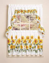 kitchen sunflowers kohls kitchen curtains in white for kitchen