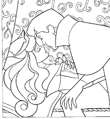 sleeping beauty coloring pages aurora kiss coloringstar