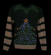 christmas tree jumper with lights unisex green led light up christmas tree knitted jumper from cheesy
