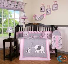 Dumbo Crib Bedding Adorable Pink And Grey Elephant Crib Bedding Set Elephant