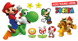 personalised super mario wall stickers totally movable personalised mario wall stickers strip jpg
