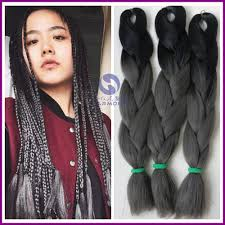 Braid Hair Extensions by Aliexpress Com Buy Free Shipping 5packs Lot Grey Ombre Braiding