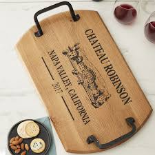 personalized tray personalized estate rectangular barrel tray wine enthusiast
