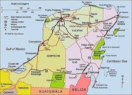 map of mexico yucatan region link to clickable interactive map of yucatán peninsula mexico travel