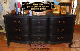 gold dresser black u0026 gold vintage henredon u2013 9 drawer serpentine dresser