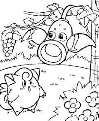 pokemon pikachu playing flower garden coloring clip
