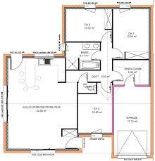 plan maison 3 chambres plain pied garage plan maison 3 chambres plein pied garage pas plain