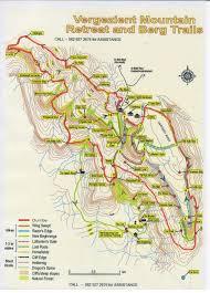 Spine Map Hiking Drakensberg Mountain Retreat
