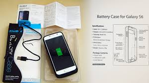 kiwibird battery case charger for samsung galaxy s6 with manual