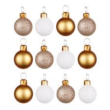 gold chagne white baubles pack of 12 departments diy at b q