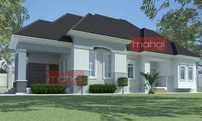4 Bedroom Floor Plans One Story Bungalow House Plans Nigerian Design 4 Bedroom One Story Brick