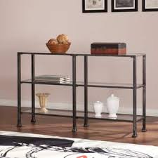 Distressed Sofa Table by Harper Blvd Distressed Black Metal Sofa Table Free Shipping
