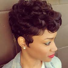 soft waves for short black hair pictures cute styles finger waves capless human hair wigs soft
