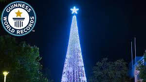 largest display of lights on an artificial tree guinness