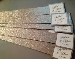 wedding invitations glitter glitter belly bands for wedding invitations with name tag